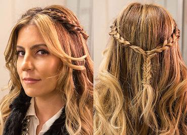 Tết tóc thác nước kiểu Pháp cực dễ với các bước sau